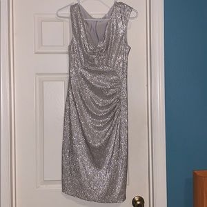 Cache silver party dress size 10
